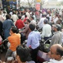 Chaos at Karachi petrol pumps