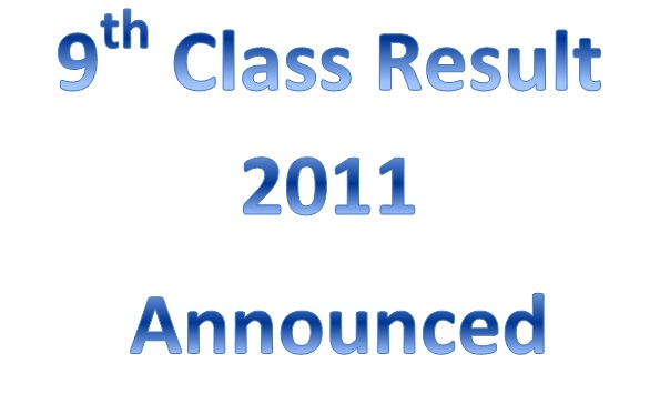 BISE Faisalabad Board 9th Class Result 2011, SSC Part-I