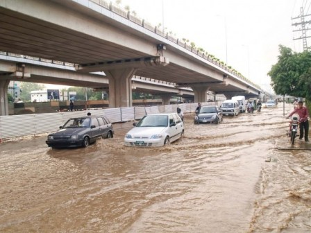 Lahore Flyover Pictures Lahore Rain Around Flyover