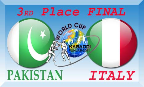 Pakistan vs Italy Kabaddi World Cup 3rd Place Final Match