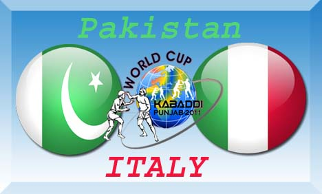 Pakistan vs Italy Kabaddi World Cup Match Live Streaming