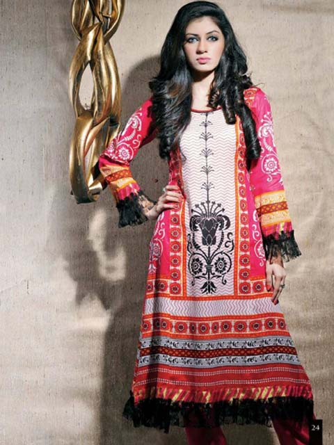 Indian Lawn 2012-2013 new prints for casual wear collection