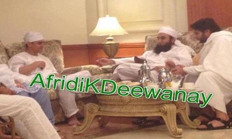 Amir Khan and Shahid Afridi Meets Maulana Tariq Jameel