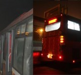 Metro-Bus-Lahore-Platform-View-and-Bus-Night-View