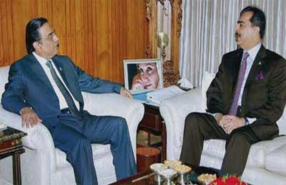 Yousuf Raza Gilani reached Karachi to meet Zardari