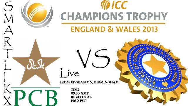 Pakistan vs India Match Live Streaming 15 June 2013:ICC Champions Trophy