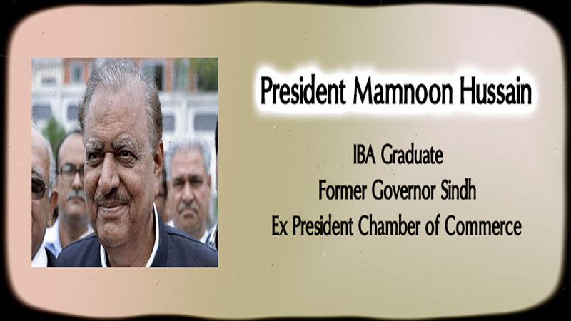Mamnoon Hussain elected as 12th President of Pakistan