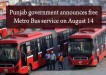 Free Metro Bus Service on August 14