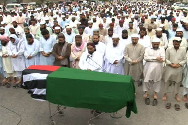 Funeral Prayer of ASWJ Spokesman Maulana Akbar Saeed Farooqi Offered
