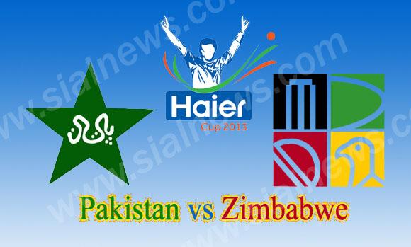 Pakistan vs Zimbabwe 2nd ODI Cricket Match on August 29, 2013