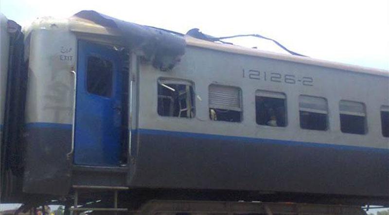Explosion on Shalimar Express near Toba Tek Singh