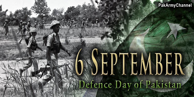 Defence Day of Pakistan (6th Septemeber) being observed