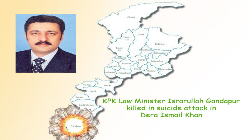 KPK Law Minister Israrullah Gandapur killed in suicide attack