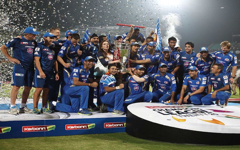 Mumbai Indians beat Rajasthan Royals to win CLT20 2013 title