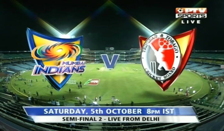 Mumbai Indians vs Trinidad & Tobago, Watch 2nd Semi Final Champion League T20 2013