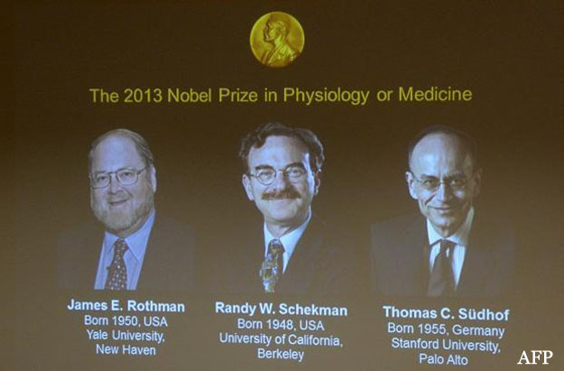 Two Americans and German win Nobel Prize 2013 in Medicine