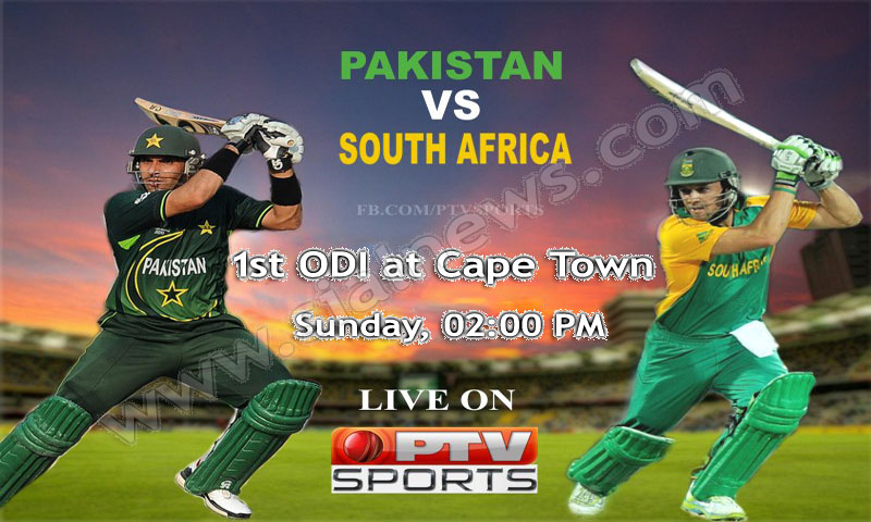 Pakistan vs South Africa 1st ODI Cricket Match at Cape Town