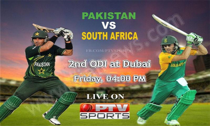 Pakistan vs South Africa, Watch 2nd ODI Cricket Match 1st November 2013