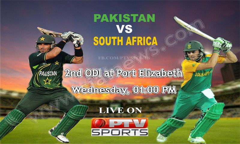 Pakistan vs South Africa 2nd ODI Cricket Match at Port Elizabeth