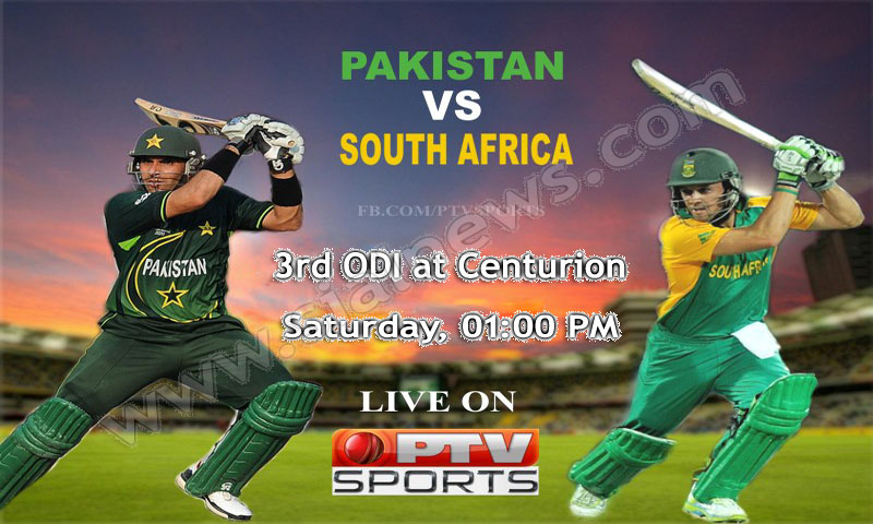 Pakistan vs South Africa 3rd ODI Cricket Match at Centurion