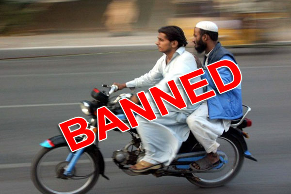 Pillion riding banned in Punjab on 9th, 10th Muharram