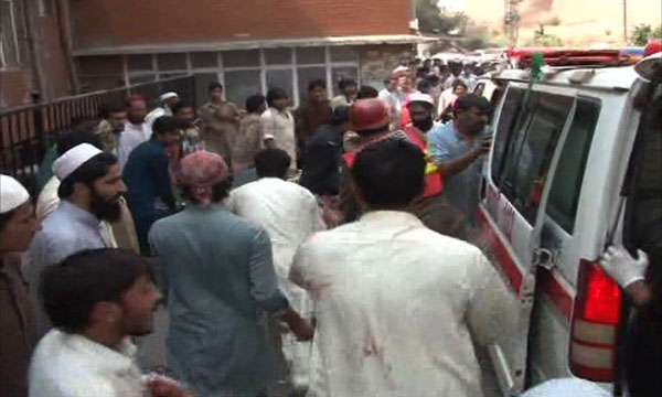 One dead, three hurt as bomb hits police van in Mansehra