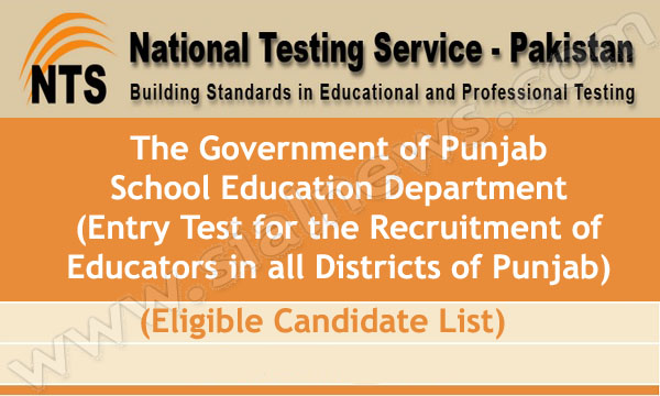 NTS announced Educators Jobs Entry Test Schedule