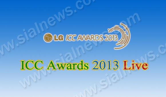 LG ICC Awards 2013 Live Broadcast Schedule