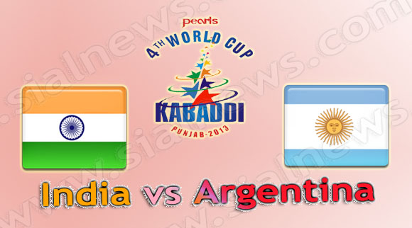 India vs Argentina, Watch 4th Kabaddi World Cup 2013 Match on 7th December