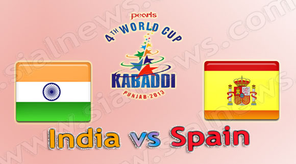 India vs Spain, Watch 4th Kabaddi World Cup 2013 Match on 3rd December