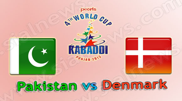 Pakistan vs Denmark, Watch 4th Kabaddi World Cup 2013 Match on 4th December