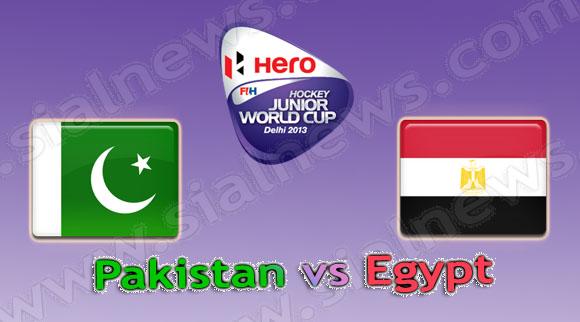Pakistan vs Egypt, Watch Hockey Junior World Cup 2013 Match on 6th December