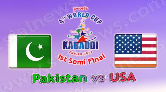 1st Semi Final: Pakistan vs USA, Watch Kabaddi World Cup 2013 Match on 11th December