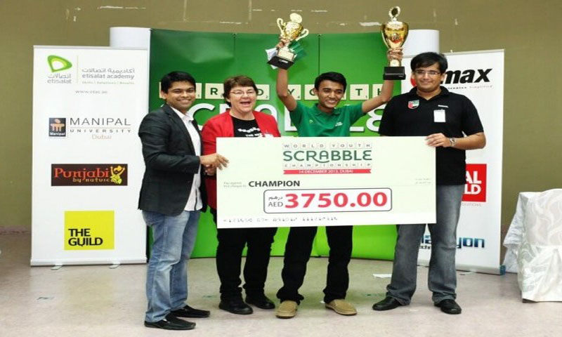 Moizullah Baig clinched the World Youth Scrabble Championship (WYSC) 2013 title