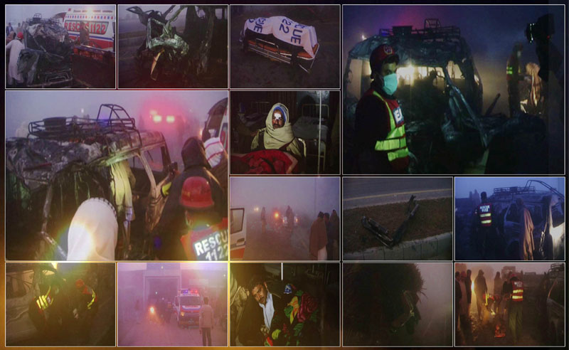 Van accident in Mandi Bahauddin, Kills 8 Peoples