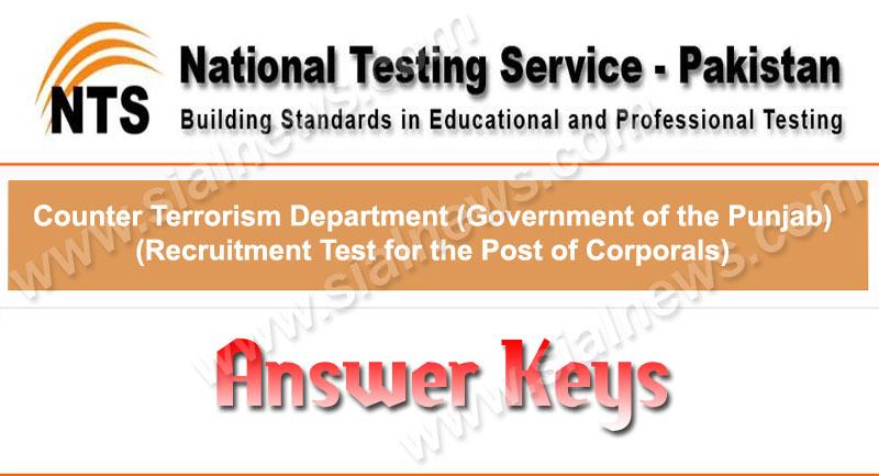 Counter Anti Terrorism Force NTS Test Answer Keys 5 January 2014