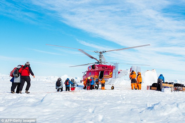 Helicopter rescued all 52 passengers from ship trapped in Antarctic ice