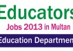 Punjab Educators Jobs 2013-2014 in Multan