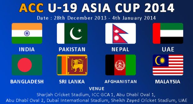 Under-19 Asia Cup 2014 Live Streaming