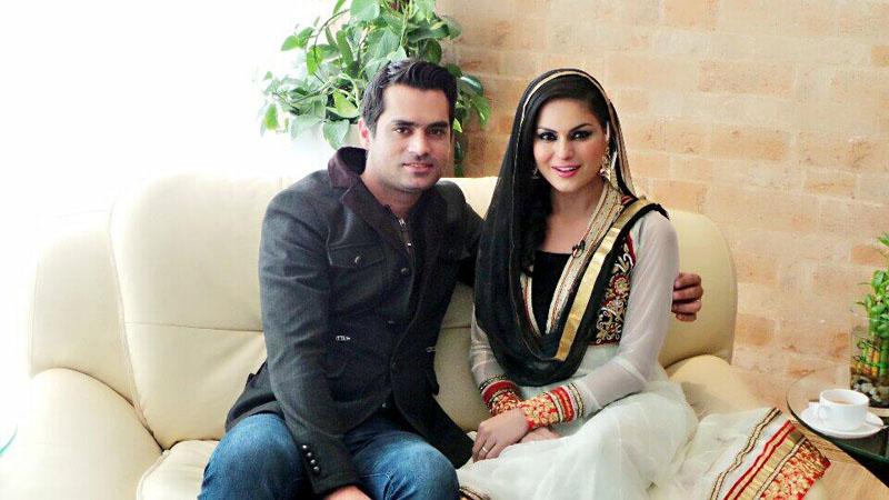Veena Malik with Asad Bashir