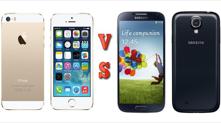 Samsung Galaxy S4 vs Apple iPhone 5s Specification & features