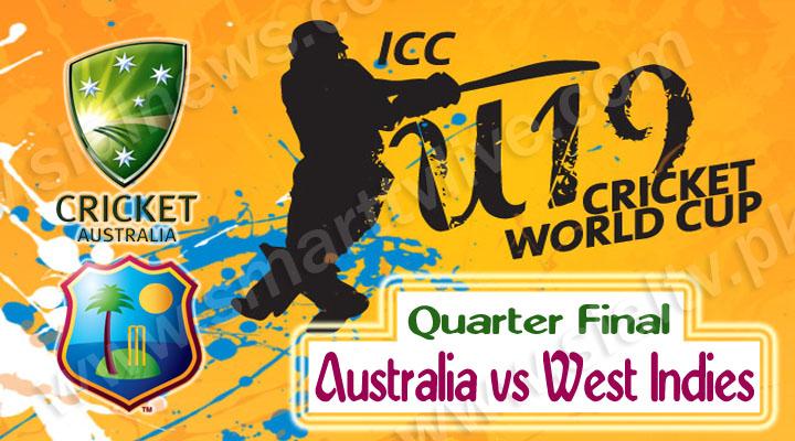 Australia U-19 vs West Indies U-19 Quarter Final Match Live Streaming 23rd Feb 2014 – World Cup