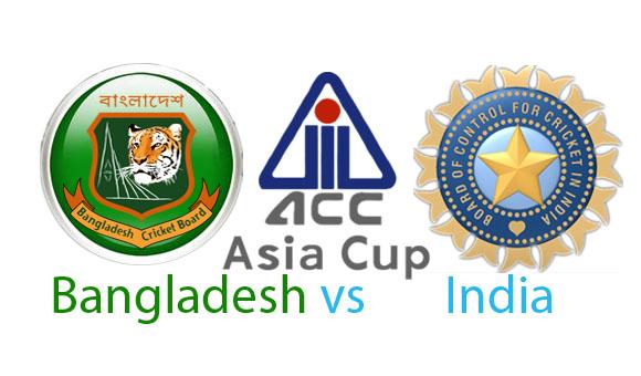 Bangladesh vs India Asia Cup 2014 Match