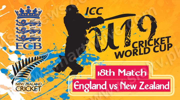 England U-19 vs New Zealand U-19, Watch 18th Cricket Match ICC Under-19 World Cup 2014