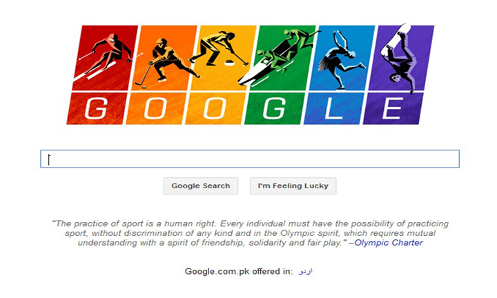 Google Doodle flies gay flag for Sochi Olympics