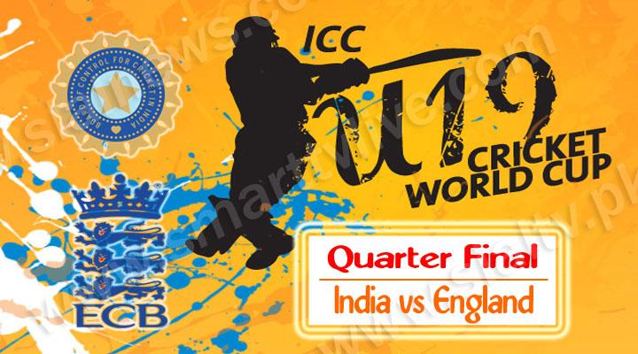 India U-19 vs England U-19 Live Quarter Final Match 22nd Feb 2014 – World Cup