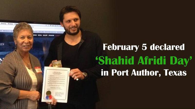Mayor of Port Arthur, Texas declares February 5 'Shahid Afridi Day'