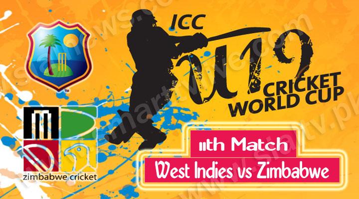 West Indies U-19 vs Zimbabwe U-19, Watch 11th Cricket Match ICC Under-19 World Cup 2014