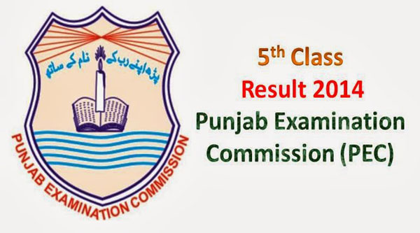 Punjab Examination Commission 5th Class Result 2014 Announced