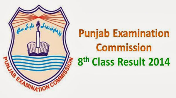 Punjab Examination Commission 8th Class Result 2014 Announced